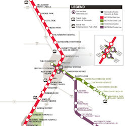 Light Rail - Metro rail houston map