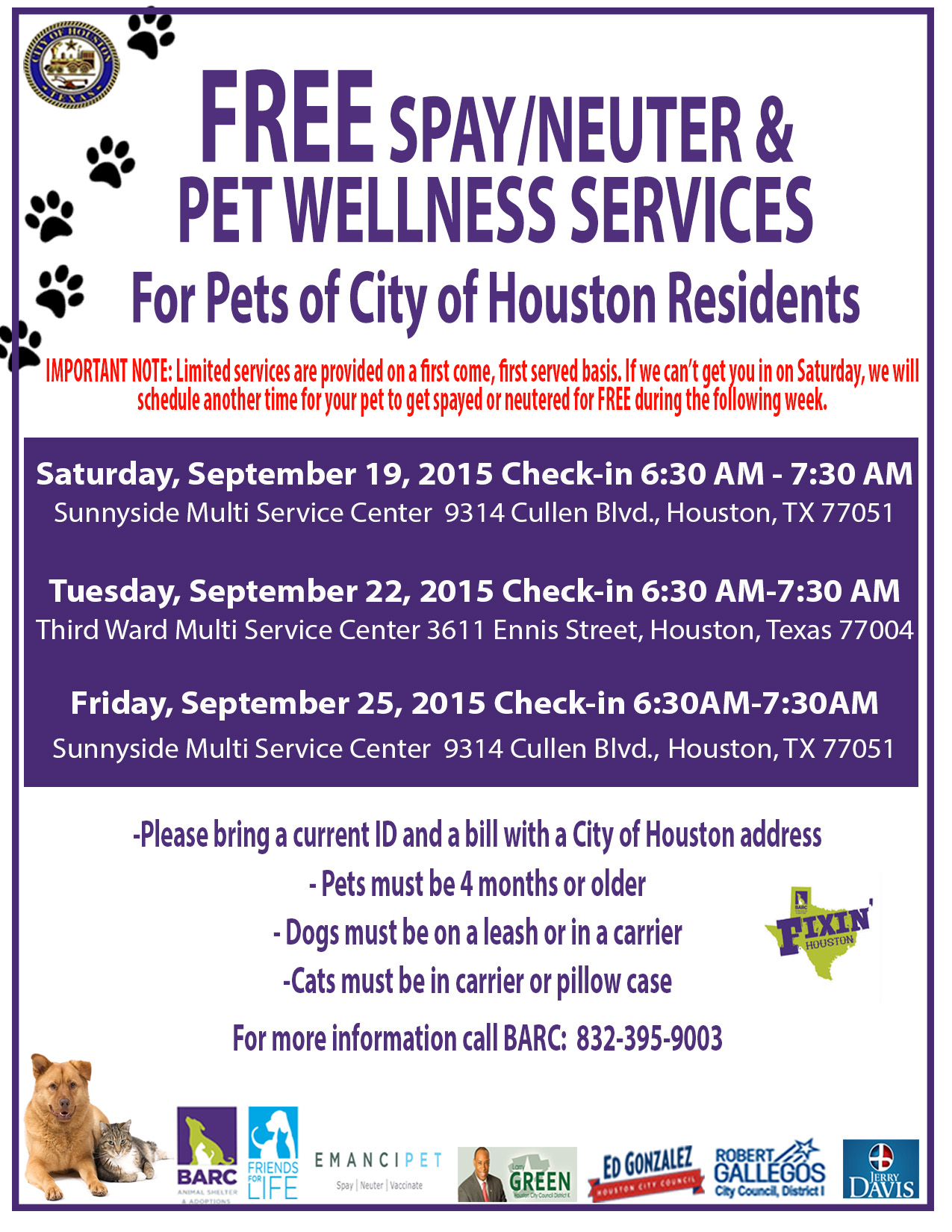 Houston Area Free Spaying And Neutering Cats