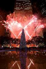 Holiday Tree and Fireworks