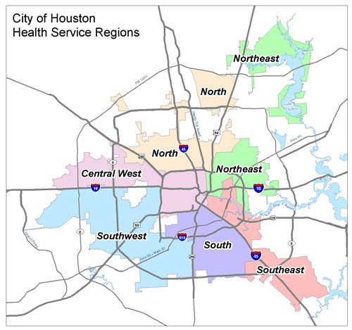 Greater Houston Area Zip Code Map.Geographic Profiles