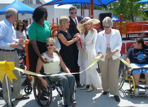 Playgrounds Without Limits Ribbon Cutting
