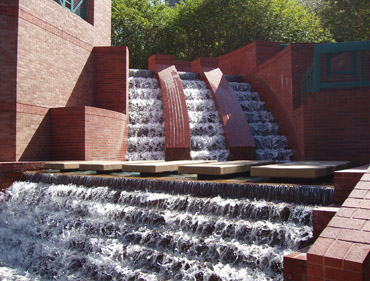 Wortham Center Waterfall