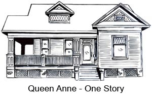City of houston historic preservation manual houston for One story queen anne