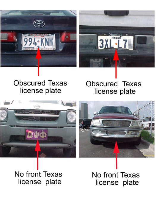Texas Department Of Motor Vehicles License Plate Placement