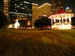 xmas lights in Houston Park